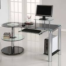 overview the orbit desk from innovex features 12mm black high density tempered glass