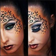 print makeup for cheetah makeup
