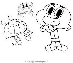 Disegno Gumball 03 Personaggio Cartone Animato Da Colorare Con