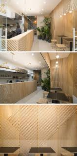 Great Wall Decor Idea   This Restaurant Covered Its Walls With Wood Panels That  Look Like Abstract