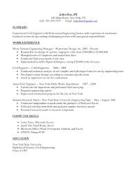 Professional Experience Civil Engineer Resume Templates Vntask