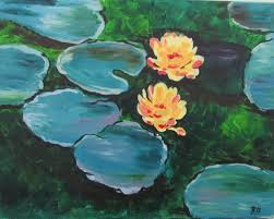 water lilies is a series of approximately 250 oil paintings by french impressionist claude monet the paintings depict monet s flower garden at his home in