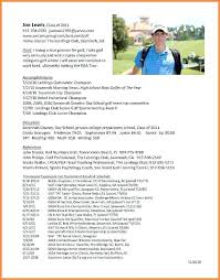 College Golf Resume Template New Here Are College Golf Resume Goodfellowafbus