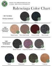 Balenciaga Color Chart 2017 Balenciaga Color Chart Sbiroregon Org