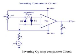 Op Amp Comparator Draw And Explain Opamp Inverting Comparator Draw Input And