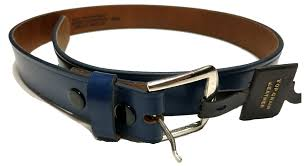 home pro leather belts navy leather belt