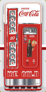 Vintage Coke Vending Machine Extraordinary VINTAGE COKE COCACOLA VENDING MACHINES MURAL Printed Banner