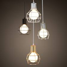 retro modern lighting. Retro Modern Brief Vintage American Wrought Iron Cage Edison Pendant Lamp Warehouse Dinning Room Home Decor Lighting L