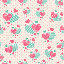 Seamless Pattern With Cute Carrtoon Hearts For Scrapbook Paper
