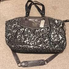 Coach bag ocelot leopard - medium satchel