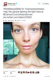 while some people have questioned the link between someone posting a makeup free and having cancer