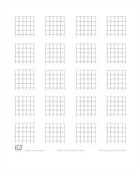 Essential Chords Mandolin And Ukulele Blank Sheet Music Chord Chart