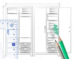 open door pencil drawing. Pencil Sketch On A White Background Of Wardrobe With Both Doors Open To Show The Interior Design And Layout Two Pencils \u2014 Photo By Veralub Door Drawing I