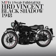 1 9 hrd vincent black shadow motorcycle 1948 full detail multi