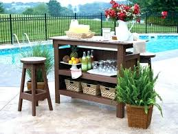 Patio Bar Stools And Table Patio Bar Height Table Set