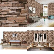 stone wallpaper 3d roll retro brick wall background textured art home decor new