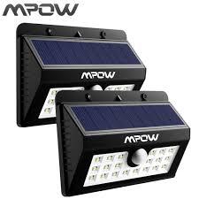 Mpow 20 Led Zonne Energie Verlichting Waterdichte Draadloze Beveiliging Motion Sensor Licht Voor Patio Oprit Buiten Muur Yard
