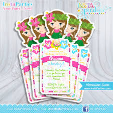 Invites Birthday Party Hawaiian Luau Invitations Invitation Invites Birthday Party Digital