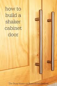 Shaker cabinet doors Simple How To Make Shaker Cabinet Door Bushwackersclub Remodelaholic How To Make Shaker Cabinet Door