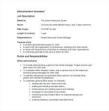 Office Job Resume Sample Office Administrator Job Description Template