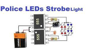 Led Police Lights Sirens Warning Strobe Light Police