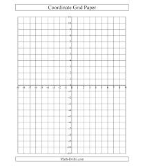 Printable 4 Quadrant Graph Paper Coordinate Plane Graphing
