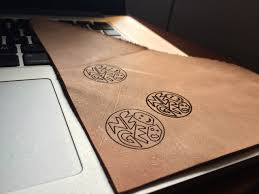 engraving on leather