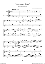 pachelbel canon violin sheet music pachelbel canon in d sheet music for flute and clarinet