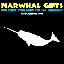 narwhal gifts for those who love the sea unicorns