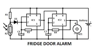 fridge door alarm circuit fridge door alarm circuit diagram