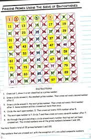 Prime And Composite Numbers 100 Chart Prime Numbers 5th Grade Mult Div Factors Multiples