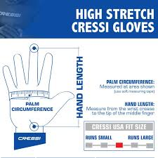 Dive Glove Size Chart Cressi High Stretch Premium Neoprene Diving Gloves 2 5mm 3 5mm And 5mm For Men And Women