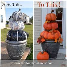diy outdoor fall decor outdoor pumpkin topiary craftthese are the best fall crafts