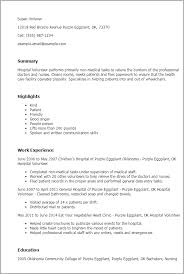 Resume Templates: Hospital Volunteer