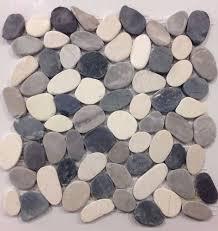 valencia cool blend pebble tile 12x12 river rock stone shower floor wall mosaic pebble stone