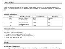 New Resume Format 2014 For Freshers Free Resume