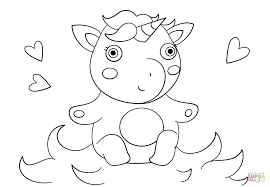 Disegno Di Unicorno Kawaii Da Colorare Disegni Da Colorare E Idea