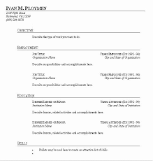 Blank Resume Forms To Print Fill In The Blank Resume Pdf Elegant Blank Resume To Fill In