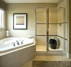 removing glass shower door bathtub