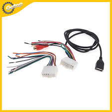 wire window picture more detailed picture about car stereo cd car stereo cd radio female tail tower 1 wire harness adapter 1 usb cable