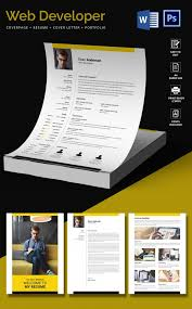 Resume Portfolio Template Best of Web Developer Resume Cover Letter Portfolio Template Free