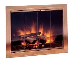 image of fireplace glass doors open or closed