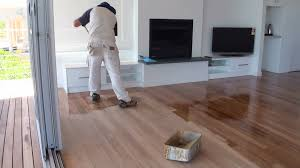 how to paint a wood floor paint or apply clear polyurethane or varnish to wood floor boards you