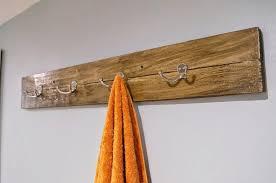 Bath towel hanger Modern Diy Reclaimed Wood Towel Rack Old House To New Home Diy Reclaimed Wood Bath Art And Towel Rack