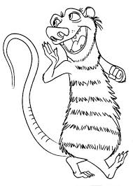 Small Picture Sid the Ground Sloth is Animals of the Ice Age Coloring Pages