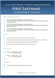 Template Word Cv 6 Free Templates To Resume For Download
