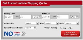 Auto Shipping Quote Best Instant Auto Shipping Quote Realizing Best Reasonable Cost
