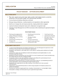 Resume Sample For It Manager Software Development Refrence Software