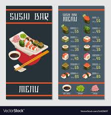 Resturant Menu Template Japanese Restaurant Menu Template Royalty Free Vector Image
