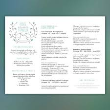 What Is Needed For A Modern Resume Modern Resume Teal Photographer Or Creative Horizontal Layout Instant Download Word Document Franklin 2